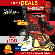 Hilti Te 5 Hammer Drill Preowned Free Angle Grinder Bits Hat Quick Ship