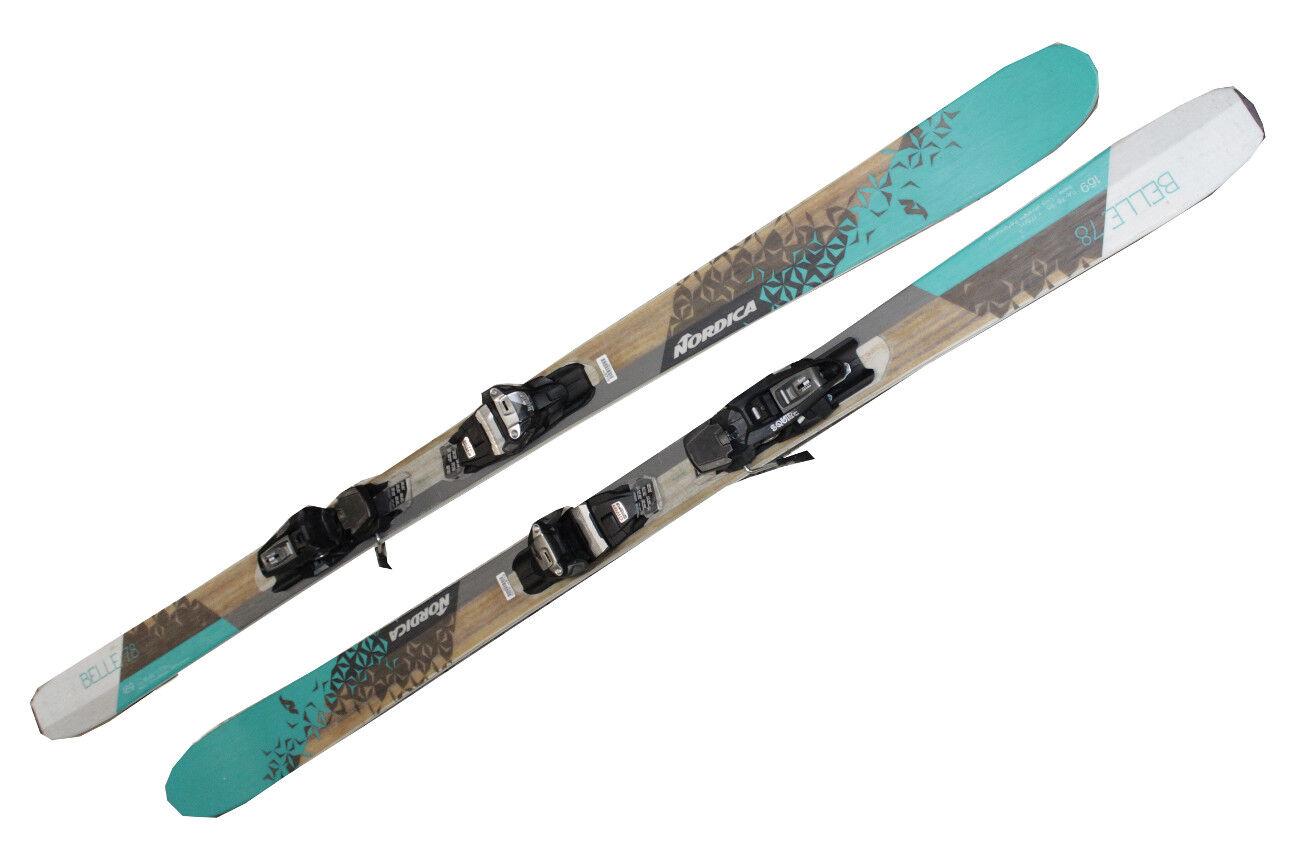Ski Nordica Belle 78 Testski 169 cm Women's Skis 16 17 Binding Marker Squire X17