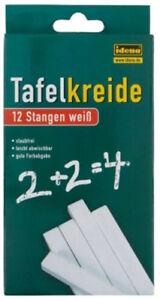 12-Stangen-Tafelkreide-Kreide-Schulkreide-Wandkreide-Malkreide-Chalks-weiss