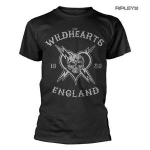 Camiseta-oficial-del-logotipo-gris-con-craneo-Wildhearts-Rock-039-Inglaterra-1989-039-todos-los
