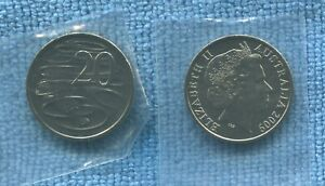 2009-UNC-20-cent-coin-ex-mint-bag-Australia