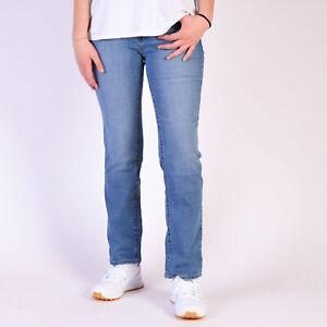 Levi-039-s-505-Straight-Blau-Damen-Jeans-33-34