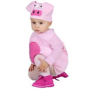 Schwein Rosa Schweinchen Pig Bauernhof Kinderkostüm Einteiler Schweinekostüm