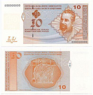 BOSNIA /& HERZEGOVINA 10 MARAKA 2008 P 63 UNC