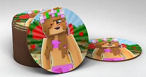 Bambini GIOCO youtuber Little Kelly Round Coaster-fantastico regalo idea  </span>
