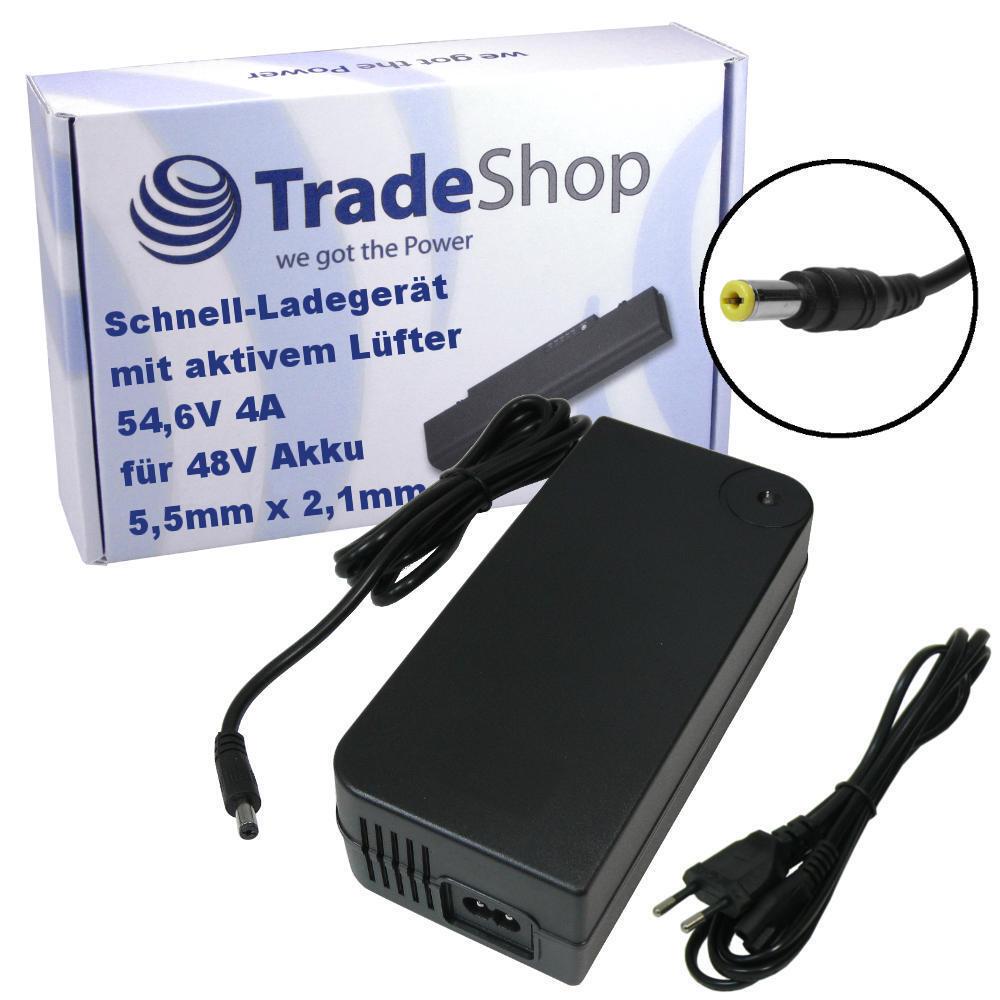 Fuente de alimentación y Cochegador Cochegador 54,6v 4a 5,5mm x 2,1mm conector para 48v baterias