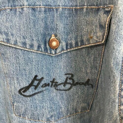 Vintage Stetson L Embroidered Denim Shirt With Gar