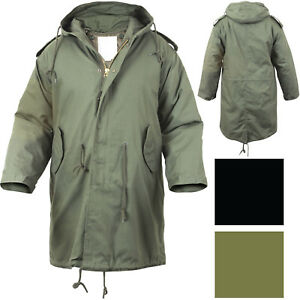 Military M-51 Fishtail Parka Hooded Army Field Winter Jacket Long ... e33f2abe0d7
