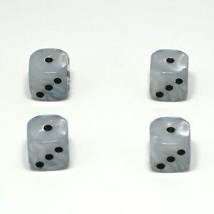 Set-of-Four-White-Pearl-Dice-Dust-Caps-X4-Snake-Eyes-80-039-s-Retro-Valve-Caps
