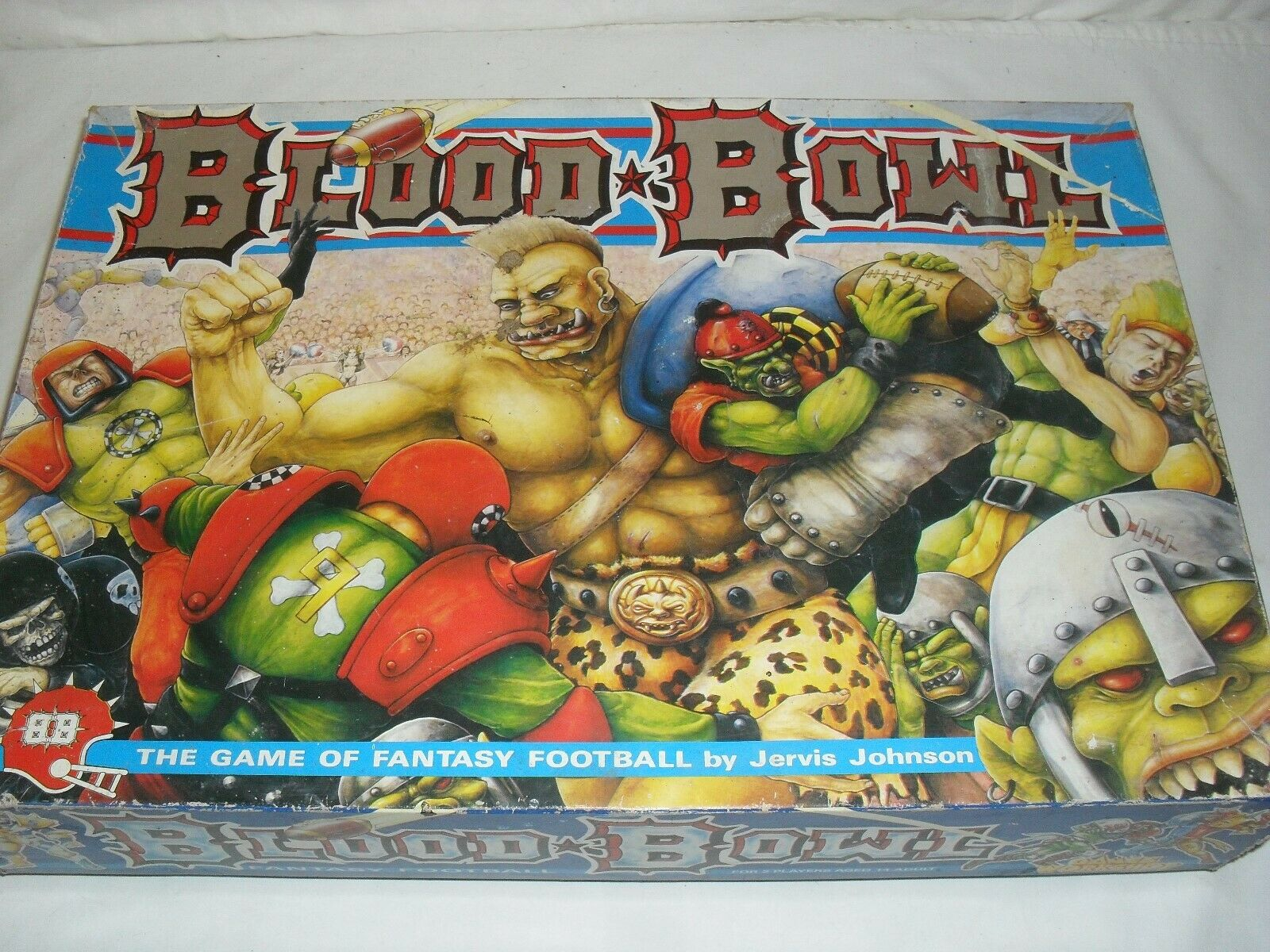 Vintage 1988 Games Workshop Blood Bowl Game- With Extras -Please Read