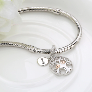 64ca2477875b9 Details about warming family the tree of life 100% 925 sterling silver  Beads Pandora bracelet
