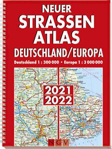 Neuer Straßenatlas Deutschland/Europa 2021/2022 (Taschenbuch)