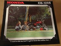 1978 Honda CB125 S Motorcycle Sales Brochure - Literature