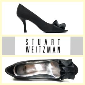 Stuart 6 ouvert en à satin 325'gigiritz' 5 ~ WeitzmanEscarpins bout noir tQdCxshr