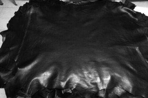Italian Lambskin Leather skin skins hide hides SOFT PREMIUM BLACK 6sqf
