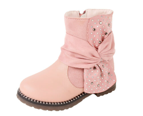 Mädchen Boots Stiefel Stiefeletten warm gefüttert Kinder Winterschuhe Schnee Neu