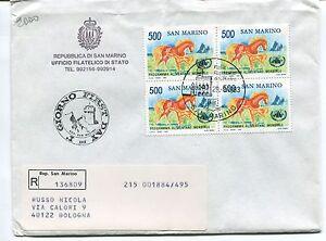 1983 Fdc San Marino 20°anno Programma Alimentare Raccomandata First Day Cover 100% De MatéRiaux De Haute Qualité