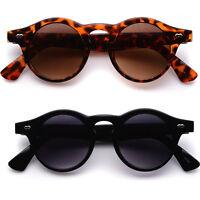 Retro Lennon Vintage Fashion Round Circle Dark Lens Black Sunglasses
