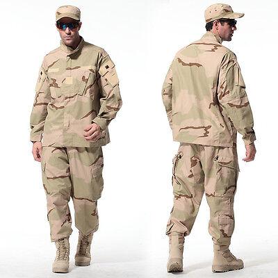 Desert Digital Military Camo Camouflage Suit Airsoft Uniform Sets-Jacket Pant