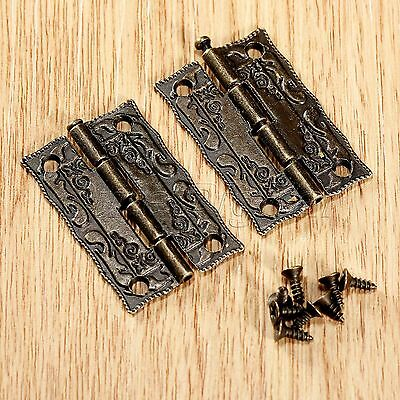 Vintage Embossing Decorative Furniture Cupboard Jewelry Case Box Hardware Hinge