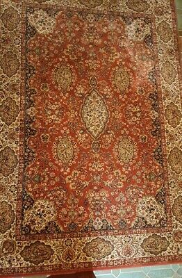 Offen Orig.keshan Adoros Handgecnüpft Oriental Teppich. Top