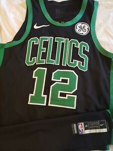 the latest 51ef0 544d1 Details about Terry Rozier 2018-19 Boston Celtics Nike Game Worn NBA  Playoffs Jersey Meigray