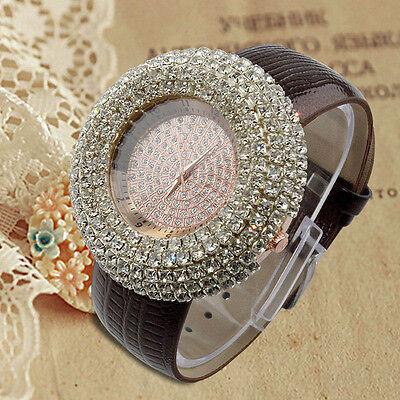 Fashion Diamond Women's Luxury Stainless Steel Crystal Rhinestone Quartz Watch