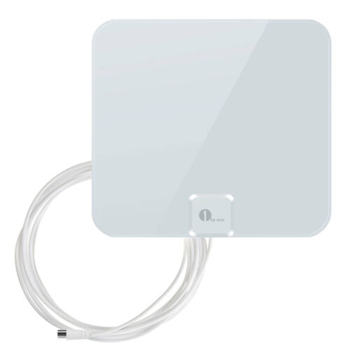 1Byone Indoor HD Signal Amplifier Digital TV Antenna HDTV 4K 25Miles for VHF UHF