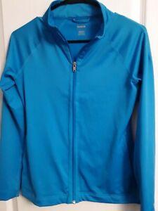 Women Reebok Activewear Full Zip Lightweight Jacket- Size Sm - Aqua Blue