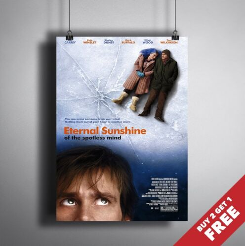 A4 Drama Film Print ETERNAL SUNSHINE OF THE SPOTLESS MIND 2004 MOVIE POSTER A3