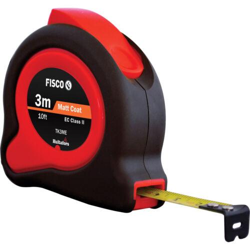 Fisco//Hultafors 3m 10ft TUF-LOK HI-Viz Metric//Imperial Tape Measure FSCTKHV3ME
