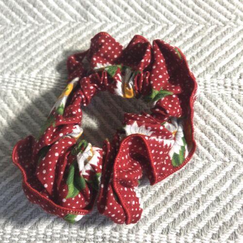 Vintage Handmade Sheer Red Polkadot Petticoat or overskirt Medium Women