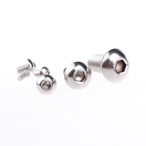 5 Pcs M8*25mm Stainless Steel Button Head Socket Cap Screws Thread M8 25mm Long