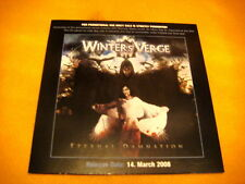Cardsleeve Full CD WINTER'S VERGE Eternal Damnation PROMO 11TR 2008 heavy metal