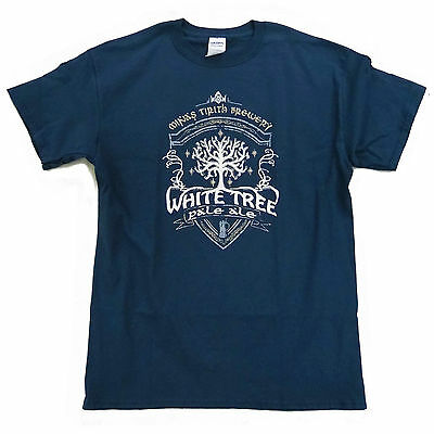 """Tolkien /""""Lord of the Rings/"""" inspired Ladies T-Shirt /> White Tree Pale Ale"""