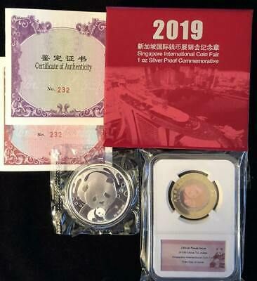 Singapore 2017 International Coin Fair 30 grams Silver Commemorative Medal
