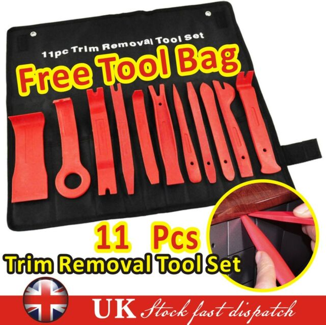 11 Car Trim Door Panel Removal Molding Set Kit Pouch Pry Tool Interior Van DIY
