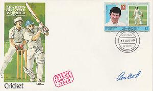 Cricket 2459-st Vincent/first Day Cover Signé Par Un Knott