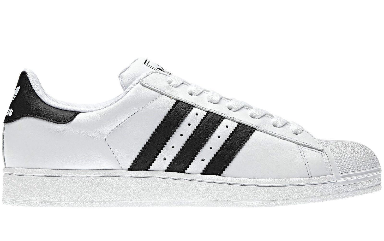 Adidas Para Hombre Hombre Hombre Superstar 2 Zapatillas Uk Tamaños 7 - 12UK Nuevo nuevo y en caja Cuero blancooo Negro 01d6b2