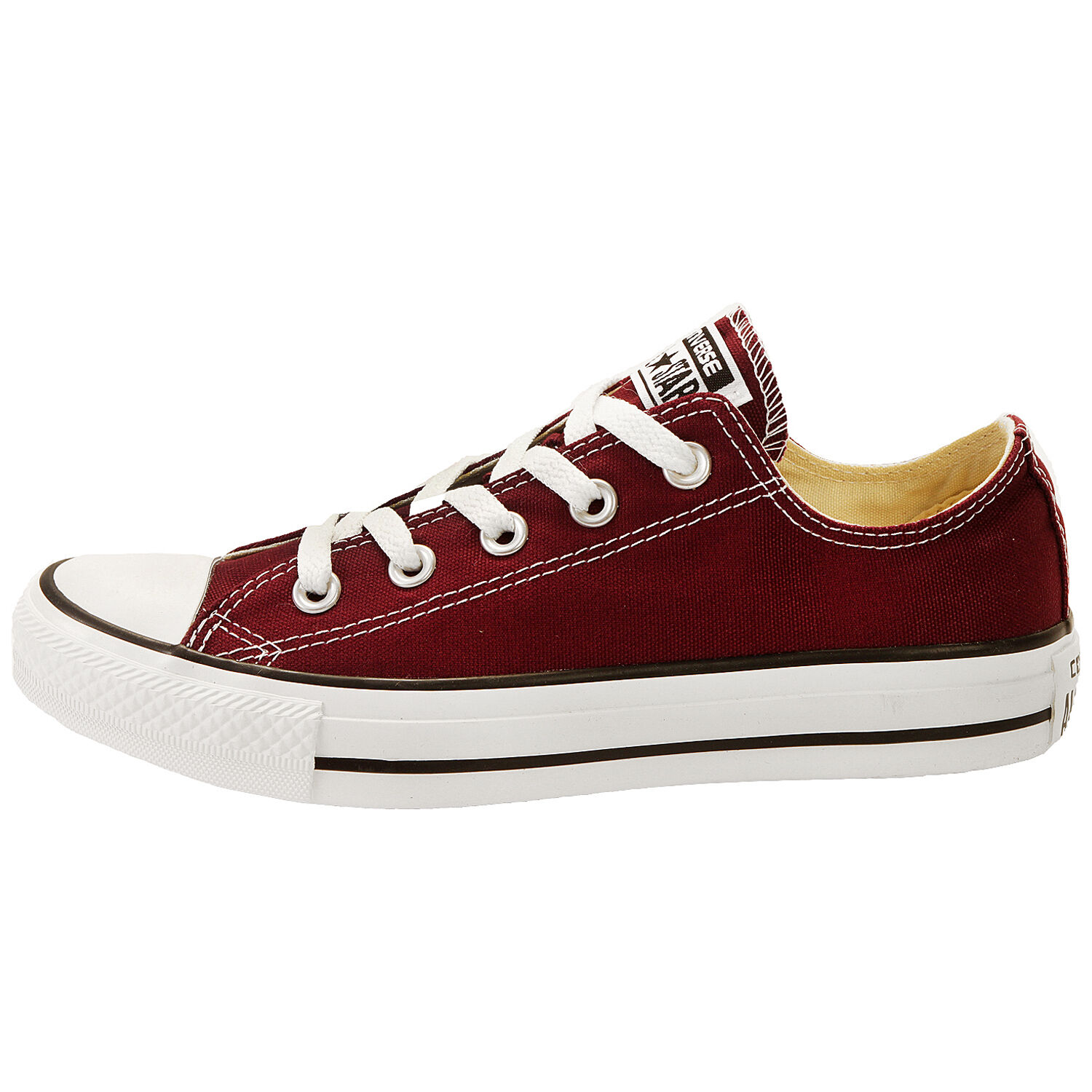 Converse All Star Chuck Taylor Burgundy Low Top Canvas New In Box 139794F