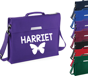 Personalised Butterly Strap Book Bag Backpack Back to School Bookbag Custom