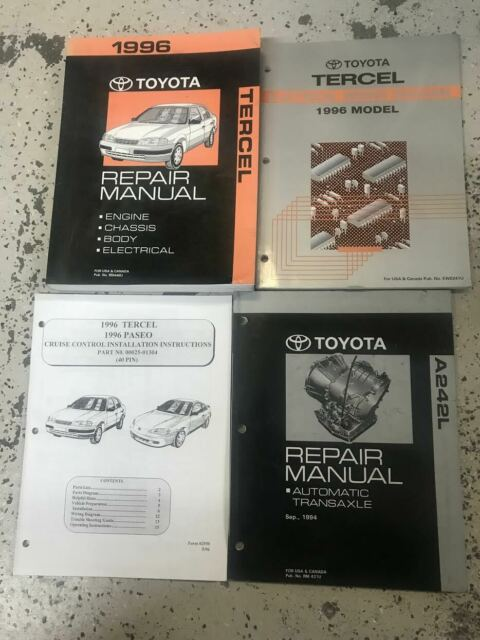 1996 Toyota Tercel Service Shop Repair Set Oem Service And The Electrical Wiring Diagrams