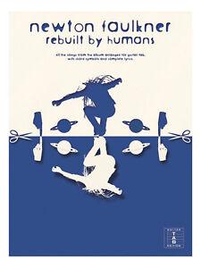 NEWTON-FAULKNER-REBUILT-BY-HUMANS-Guitar-TAB-Music-Book-Songbook-Shop-Soiled