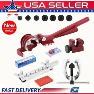 Tubing Bender Cutter Double Flaring Tool Kit 3 Way Brake Water Gas Line Plumbing