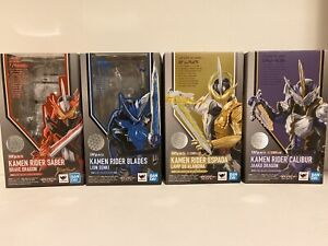 Masked Kamen Rider Figuarts Saber Lot Of 4 Blades Espada Calibur US Seller