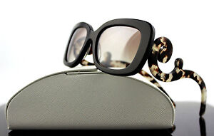 37f268615aee Image is loading RARE-Genuine-PRADA-Square-Baroque-Brown-Havana-Sunglasses-