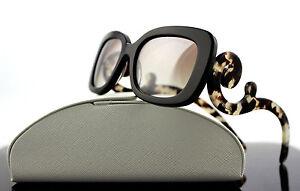 97561fa0a413 Image is loading RARE-Genuine-PRADA-Square-Baroque-Brown-Havana-Sunglasses-