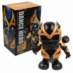 Dance-Bumblebee-Transformers-Toy-Figure-Dancing-Robot-w-LED-Flashlight-amp-Music