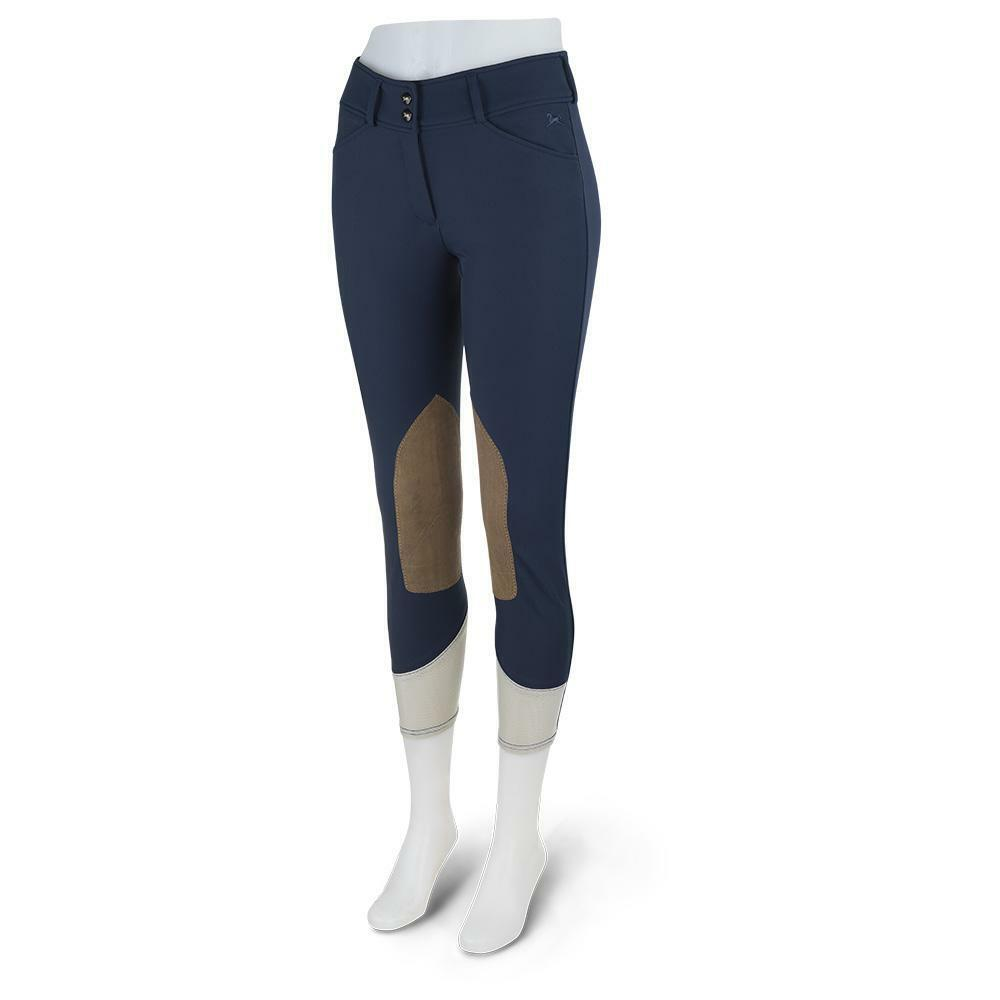 Anna Mid Rise Front Zip Breeches -  Navy Vintage  is discounted