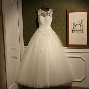 2016-New-Lace-White-Ivory-Wedding-Dress-Bridal-Gown-Custom-Size-6-8-10-12-16